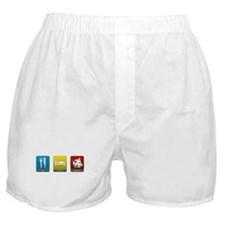 Eat, Sleep, Goalie Boxer Shorts