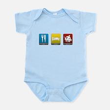 Eat, Sleep, Goalie Infant Bodysuit