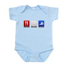 Eat, Sleep, Swim Infant Bodysuit