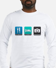 Eat, Sleep, Photography Long Sleeve T-Shirt