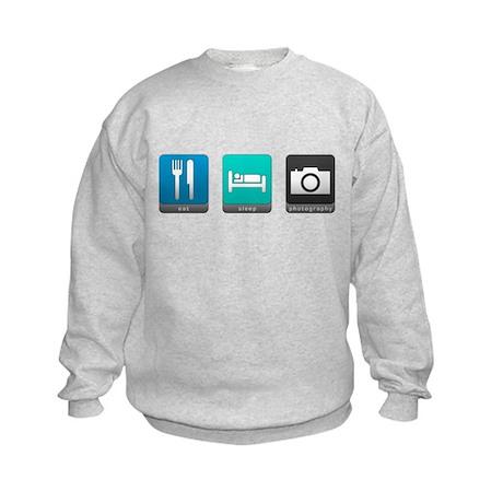 Eat, Sleep, Photography Kids Sweatshirt