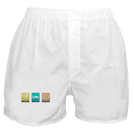 Eat, Sleep, Read Boxer Shorts