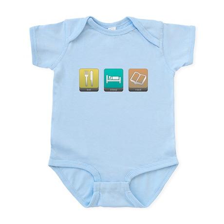 Eat, Sleep, Read Infant Bodysuit