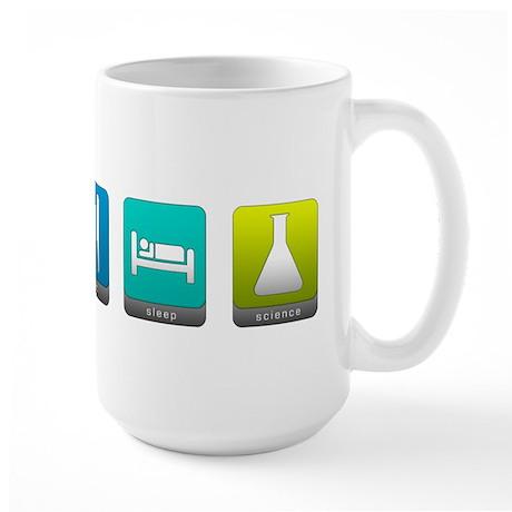 Eat, Sleep, Science Large Mug