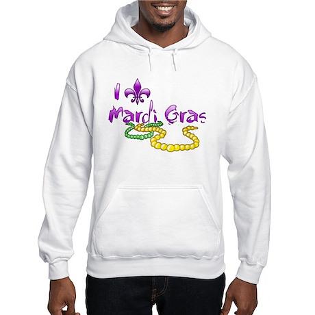 I Fleur-de-Lis Mardi Gras Hooded Sweatshirt
