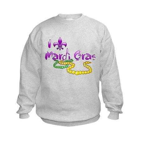 I Fleur-de-Lis Mardi Gras Kids Sweatshirt