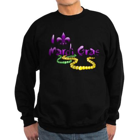 I Fleur-de-Lis Mardi Gras Dark Sweatshirt