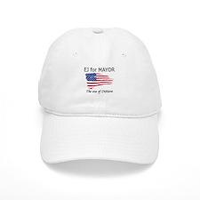 EJ for Mayor (transparent sta Baseball Cap