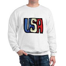 Red, White and Blue USA Sweatshirt