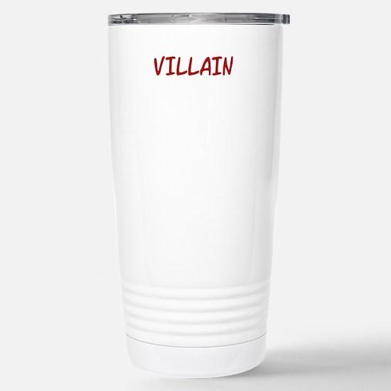 Red VILLAIN Stainless Steel Travel Mug
