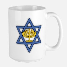 Star of David with Menorah Mug