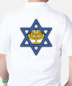 Star of David with Menorah Golf Shirt