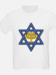 Star of David with Menorah T-Shirt