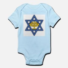 Star of David with Menorah Infant Bodysuit