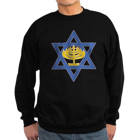 Star of David with Menorah Dark Sweatshirt