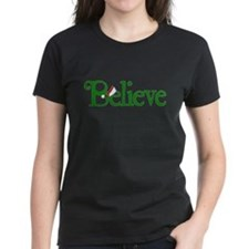 Believe with Santa Hat Tee