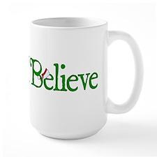 I Believe with Santa Hat Mug