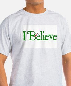 I Believe with Santa Hat T-Shirt