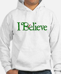 I Believe with Santa Hat Hoodie