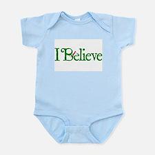 I Believe with Santa Hat Infant Bodysuit