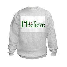 I Believe with Santa Hat Sweatshirt