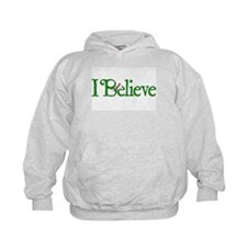 I Believe with Santa Hat Hoodie