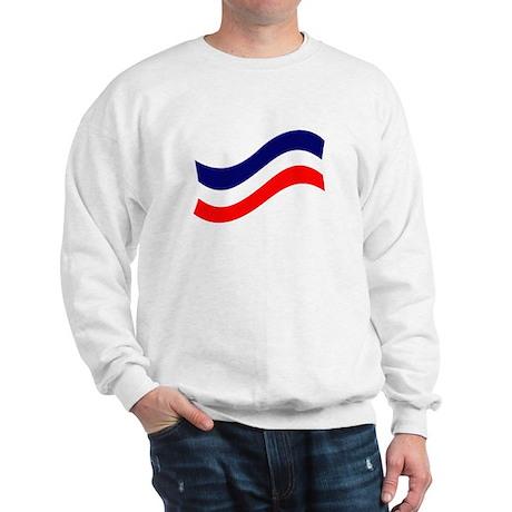 red, white, and blue ribbon Sweatshirt