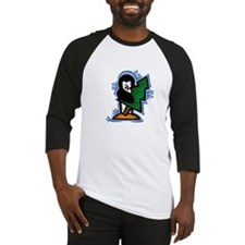 Penguin with Tree Baseball Jersey