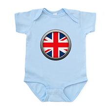 Round Flag - United Kingdom Infant Bodysuit