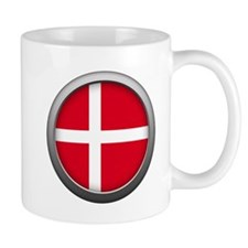Round Flag - Denmark Mug