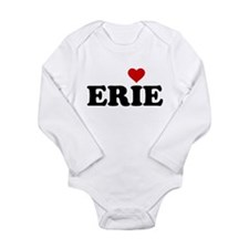 Erie with Heart Long Sleeve Infant Bodysuit