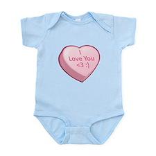 I Love You <3 :) Infant Bodysuit