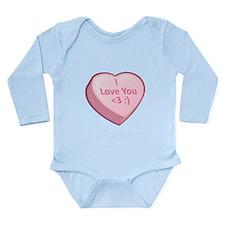 I Love You <3 :) Long Sleeve Infant Bodysuit