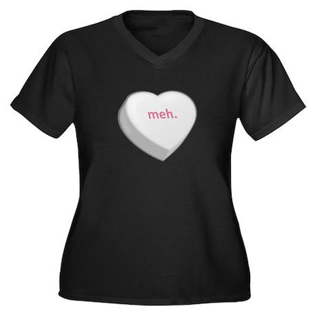 meh. Women's Plus Size V-Neck Dark T-Shirt