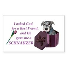Schnauzer Rectangle Decal