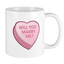 WILL YOU MARRY ME? Candy Heart Mug