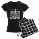 Gas Fracking Women's Dark Pajamas
