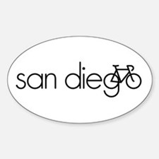 Bike San Diego Sticker (Oval)