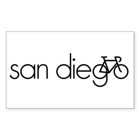 Bike San Diego Sticker (Rectangle)