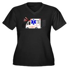 Band Aid Box Women's Plus Size V-Neck Dark T-Shirt