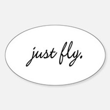 Just Fly Oval Decal