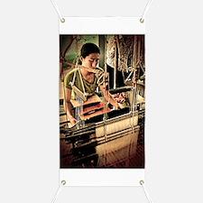 Cambodian Silk Weaver Banner