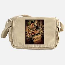 Cambodian Silk Weaver Messenger Bag