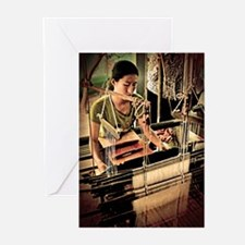 Cambodian Silk Weaver Greeting Cards (Pk of 20)