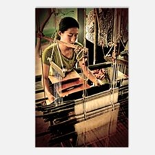 Cambodian Silk Weaver Postcards (Package of 8)