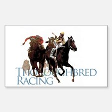 Thoroughbred Racing Sticker (Rectangle)