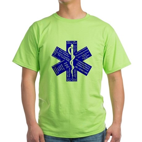 Funny EMS Acronyms Green T-Shirt