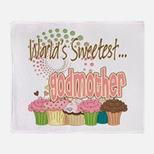 World's Sweetest Godmother Throw Blanket