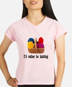 I'd rather be knitting Performance Dry T-Shirt