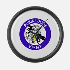VF-143 Pukin' Dogs Large Wall Clock